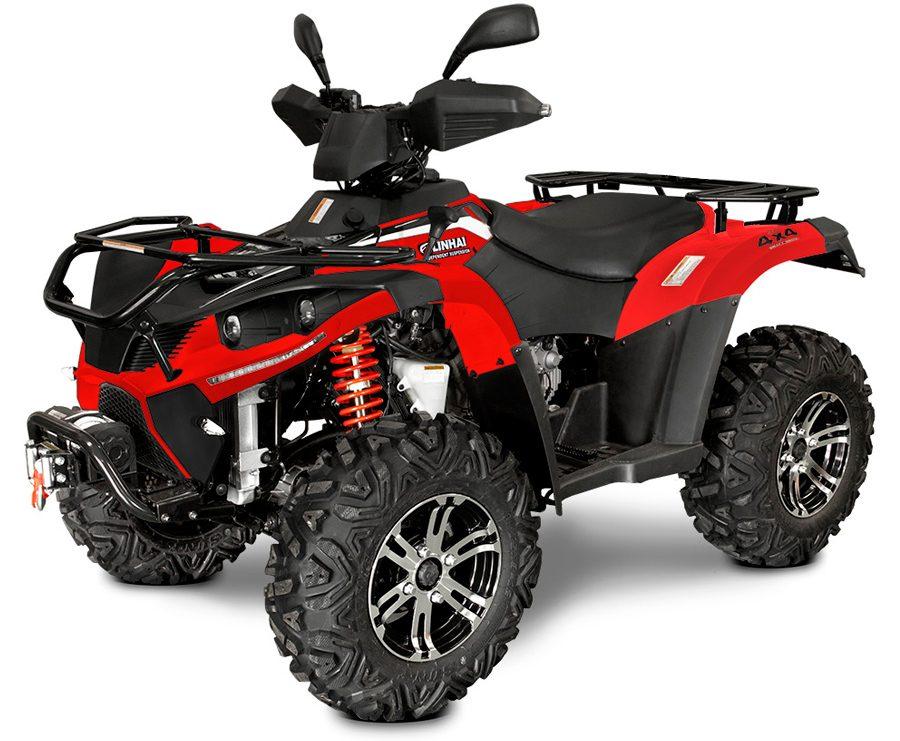 Linhai ATV-500-eest külg punane
